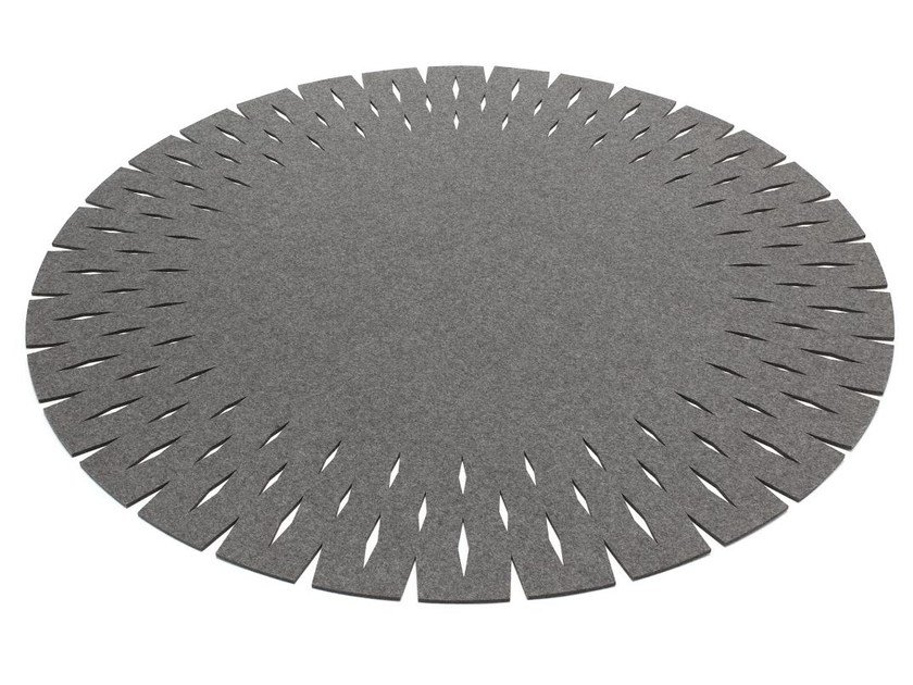 Round felt rug GRATE | Round rug by HEY-SIGN