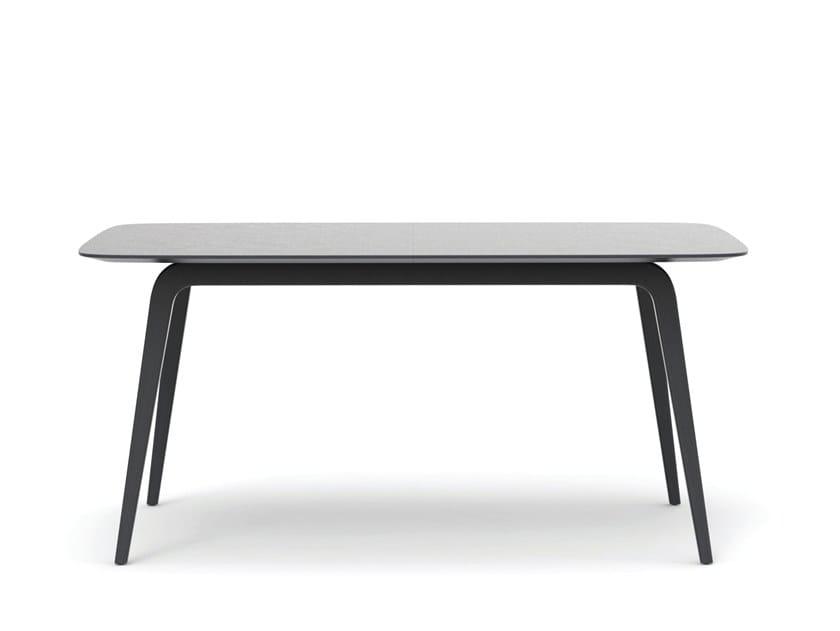 Extending rectangular oak table GRATUS | Rectangular table by Caussa