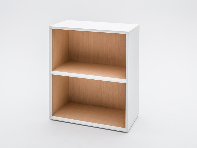 Open melamine-faced chipboard office shelving GRAVITY | Office shelving by MDD