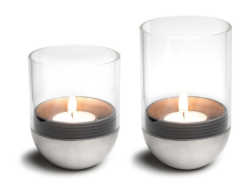 Glass and metal table Candle Holders GRAVITY CANDLE by höfats