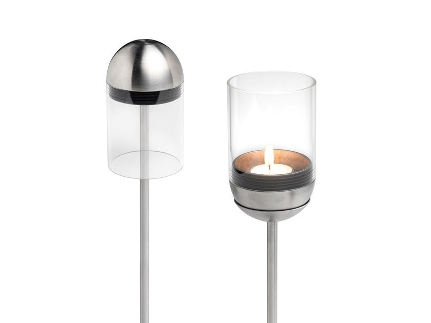 Metal candle holder GRAVITY CANDLE POLE + FOOT by höfats
