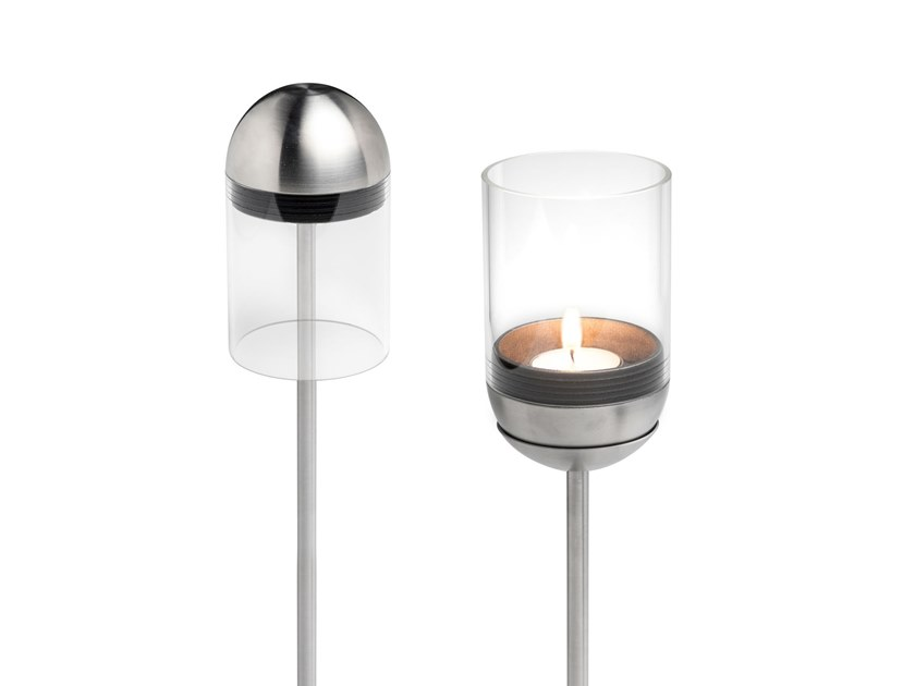 Portacandele Da Giardino : Portacandele in metallo gravity candle pole foot by höfats