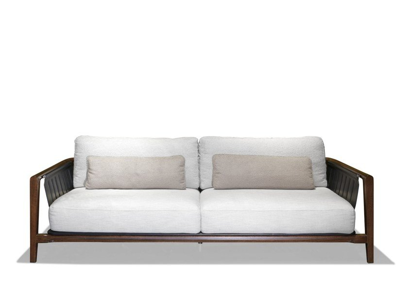 3 seater fabric garden sofa with removable cover GREENLIFE by Visionnaire