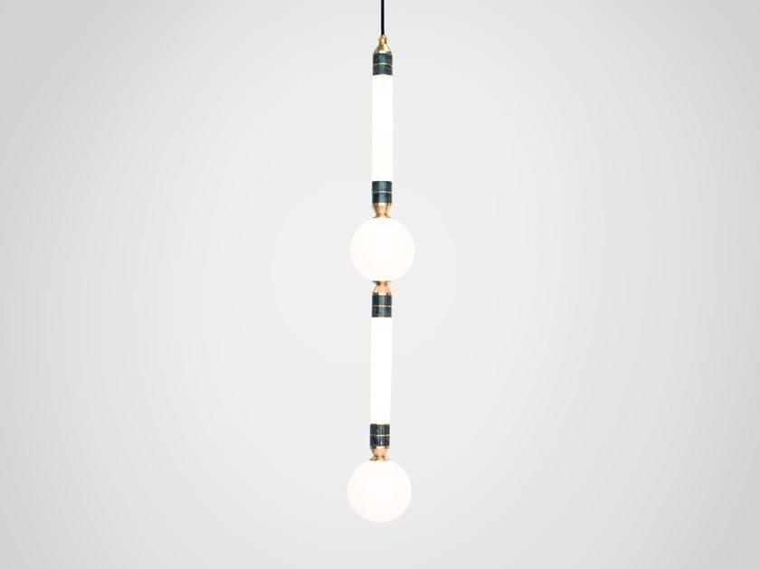LED pendant lamp GREENSTONE LARGE by Marc Wood Studio