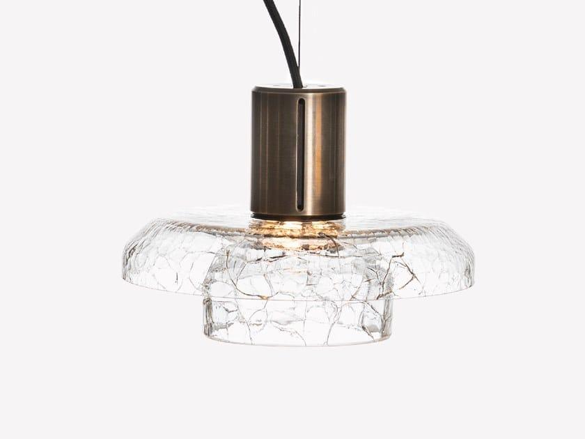 Lampada a sospensione a LED in vetro soffiato GREENWAY CRACKLE S2 by ADesignStudio
