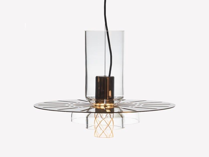 Lampada a sospensione a LED in ottone e vetro soffiato GREENWAY S4 by ADesignStudio
