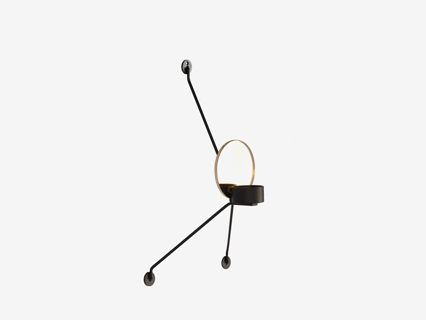 Wall-mounted metal candle holder GREF by RADAR INTERIOR