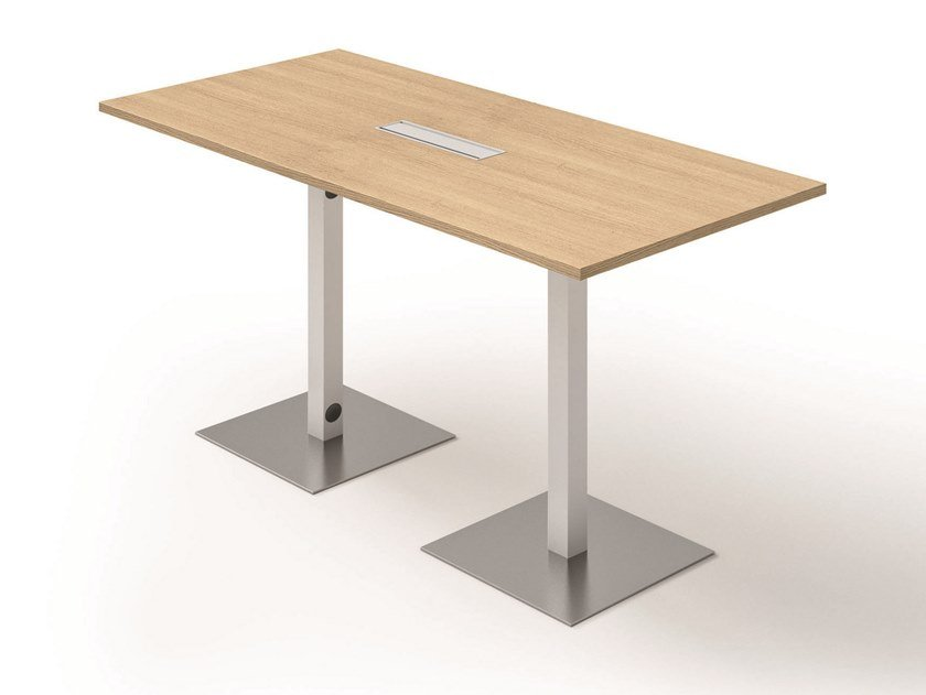 Rectangular meeting table with cable management GREKO | Meeting table by Quadrifoglio