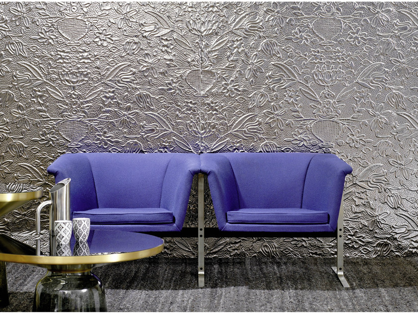 Wall tiles with metal effect SEVILLE by Élitis
