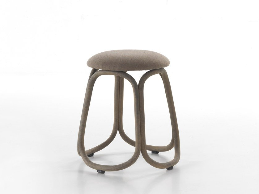 Low rattan garden stool GRES | Low stool by EXPORMIM