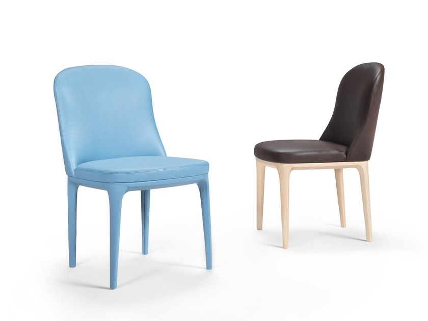 Upholstered leather chair GRETA | Leather chair by Marac