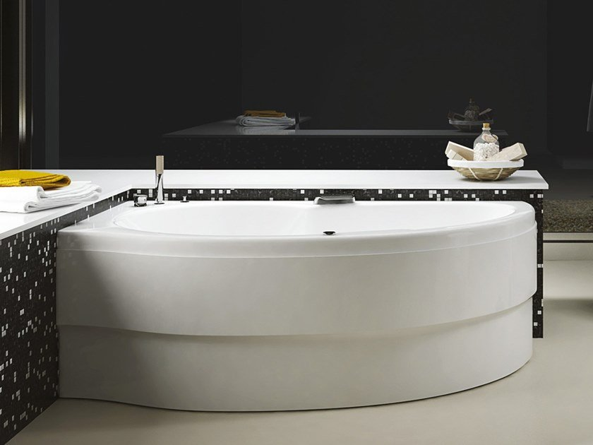 Vasca Da Bagno Asimmetrica Idromassaggio In Acrilico Simy By Relax Design