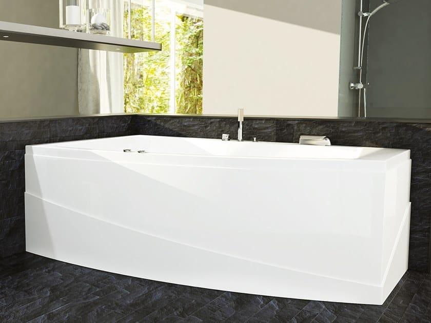 Asymmetric whirlpool acrylic bathtub GRETA by Relax Design