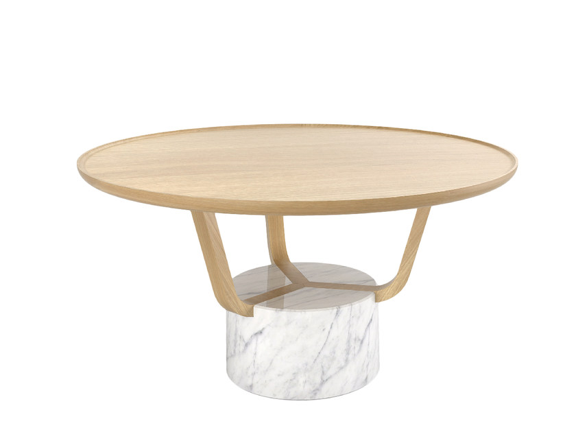 Round wooden coffee table GRETEL | Coffee table by Monolithe Edition