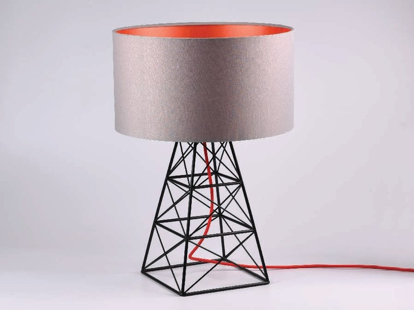 Metal table lamp grey orange pylon pylon collection by filamentstyle metal table lamp grey orange pylon by filamentstyle mozeypictures Image collections
