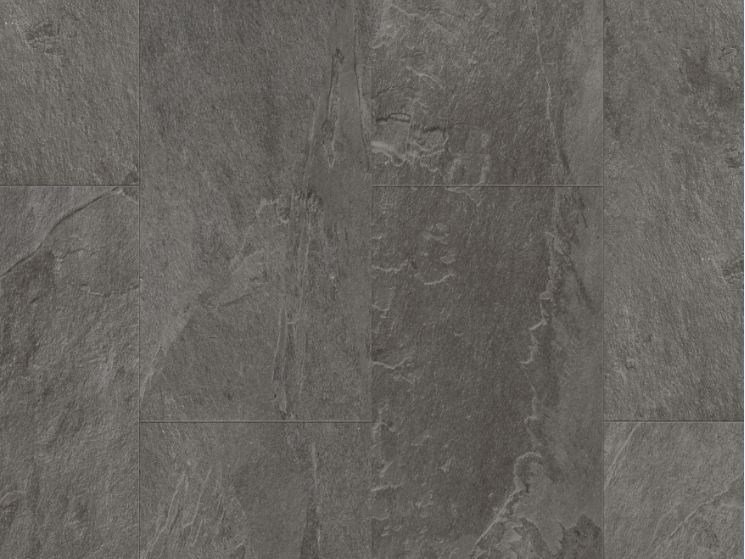 Vinyl Flooring With Stone Effect Grey Scivaro Slate Tile