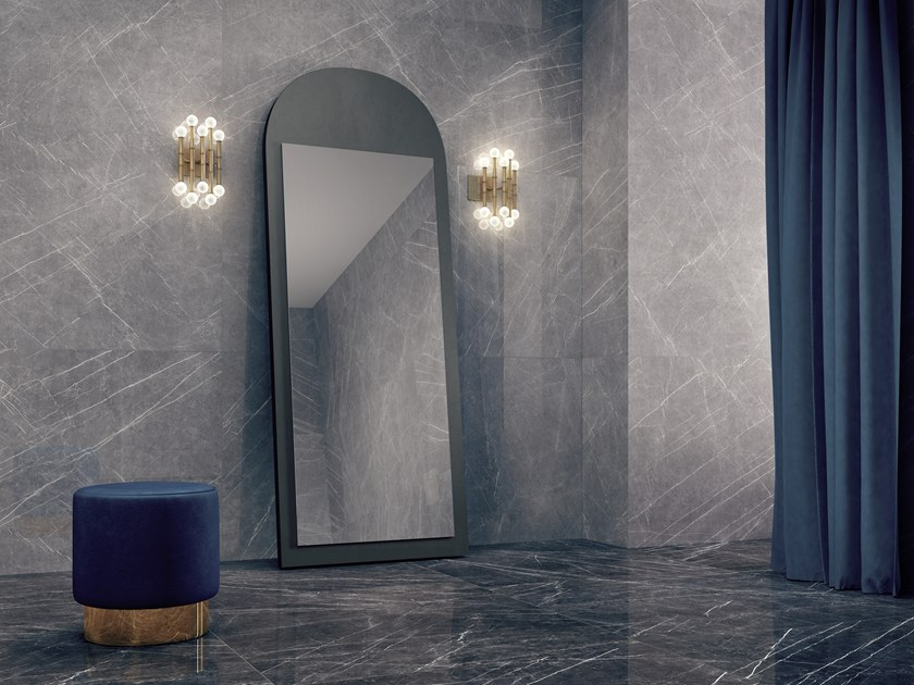 Ceramic wallfloor tiles with marble effect GREYSTONE By Museum