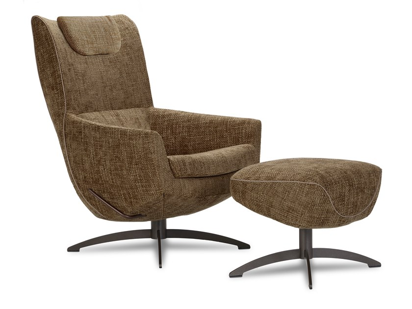 Armchair with 4-spoke base with headrest GRIFFON LOUNGE | Armchair by JORI