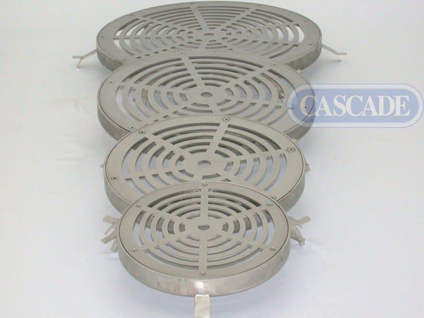 Piastra inox drenante per fontana a pavimento Griglie drenanti by CASCADE