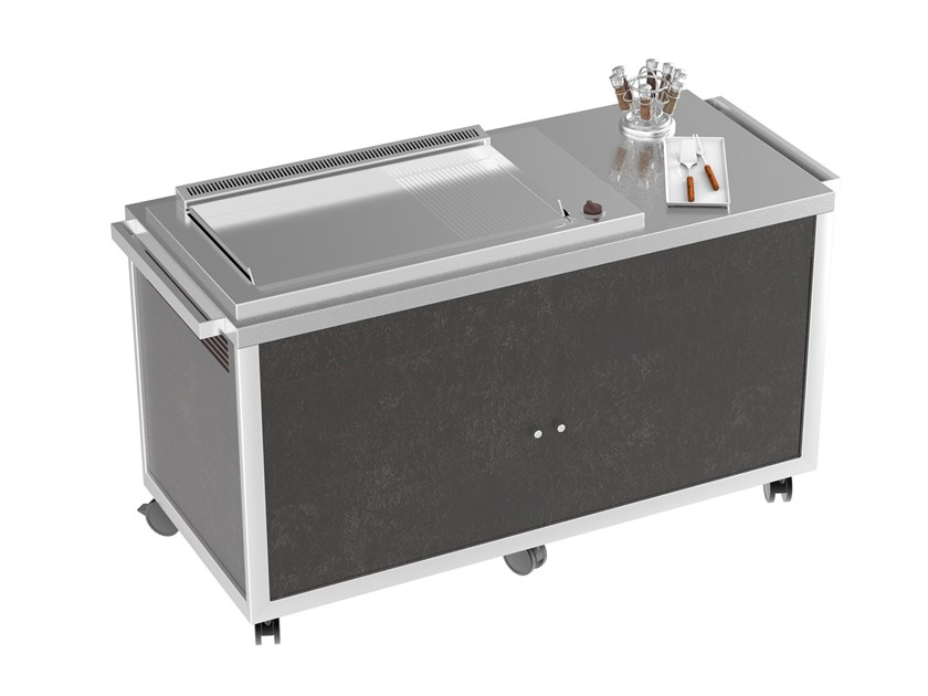 Grill with casters Grill/Plancha cart by La tavola