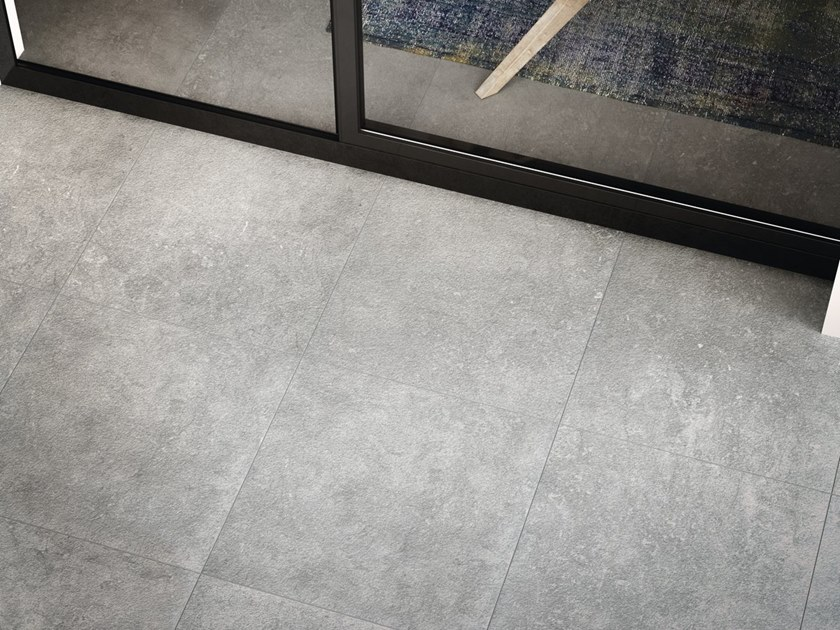 Indoor/outdoor porcelain stoneware wall/floor tiles with marble effect GRIS SAVOIE by FMG