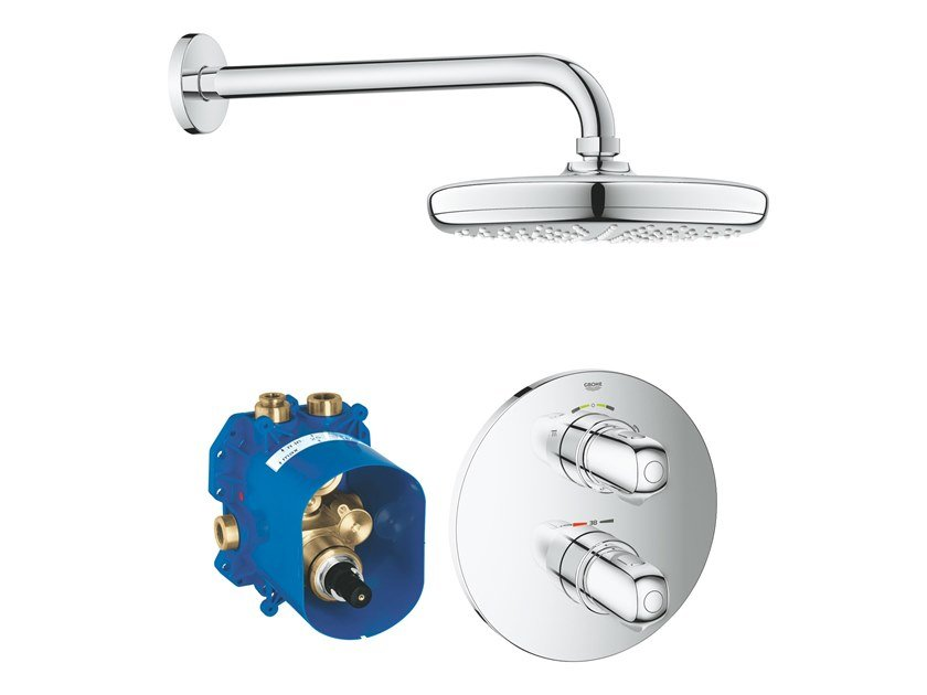 Thermostatic shower mixer with overhead shower GROHTHERM 1000 NEW 34582001 | Thermostatic shower mixer by Grohe