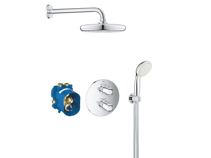 Thermostatic shower set with hand shower GROHTHERM 1000 NEW 34614001 | Thermostatic shower mixer by Grohe