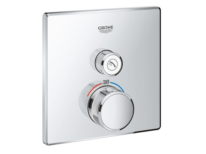 Recessed shower mixer with plate GROHTHERM SMARTCONTROL 29123000 | Thermostatic shower mixer by Grohe