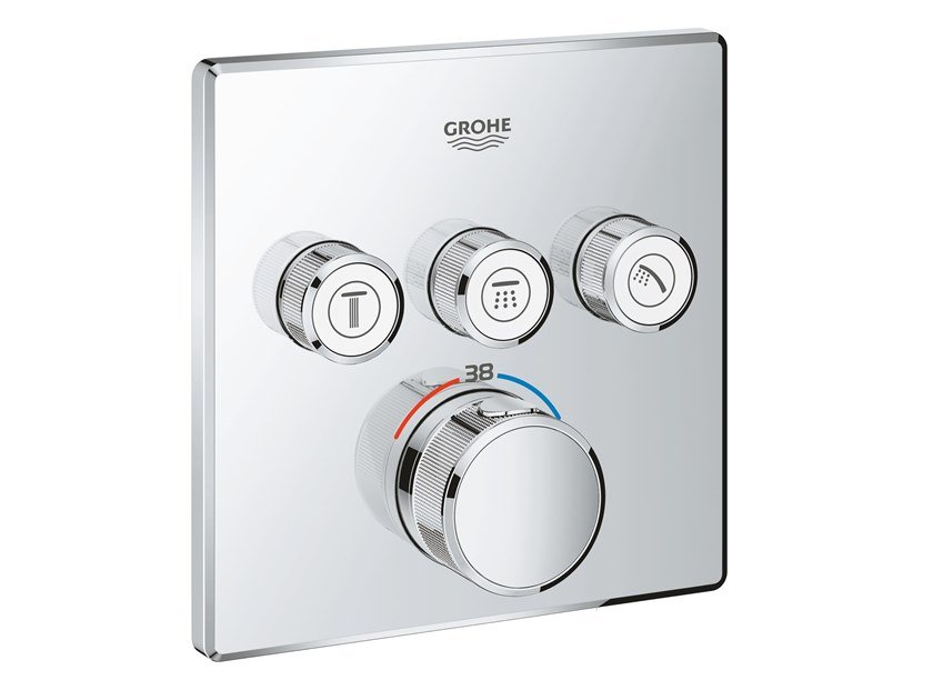 Thermostatic shower mixer with plate GROHTHERM SMARTCONTROL 29126000 | Shower mixer by Grohe