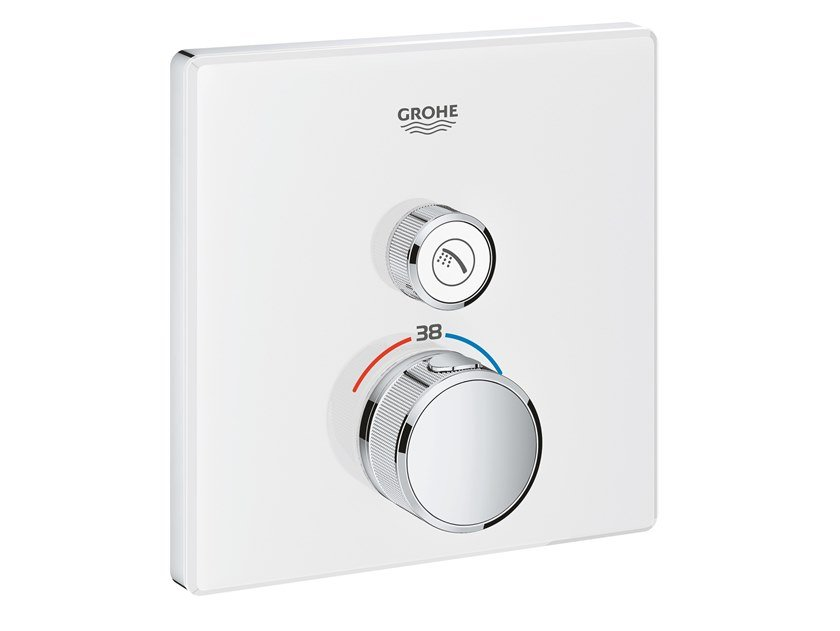 Thermostatic shower mixer with plate GROHTHERM SMARTCONTROL 29153LS0 | Shower mixer by Grohe