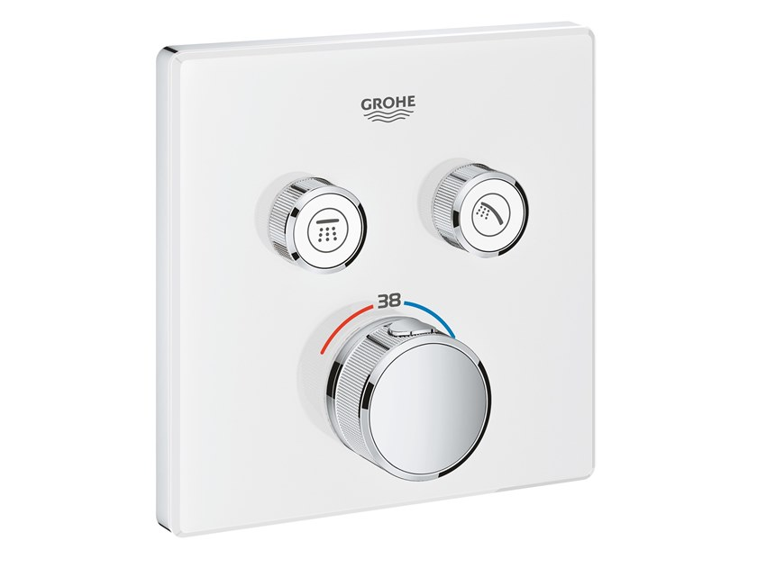 Thermostatic shower mixer with plate GROHTHERM SMARTCONTROL 29156LS0 | Shower mixer by Grohe
