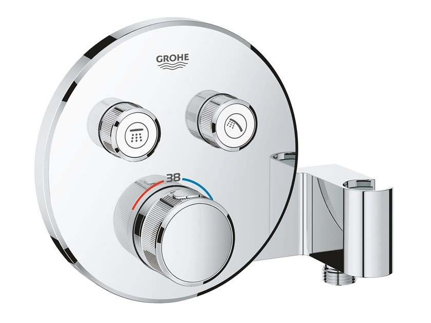 Thermostatic shower mixer with plate GROHTHERM SMARTCONTROL 29120000 | Shower mixer by Grohe