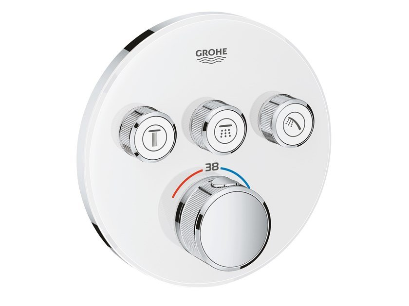 Thermostatic shower mixer with plate GROHTHERM SMARTCONTROL 29904LS0 | Shower mixer by Grohe