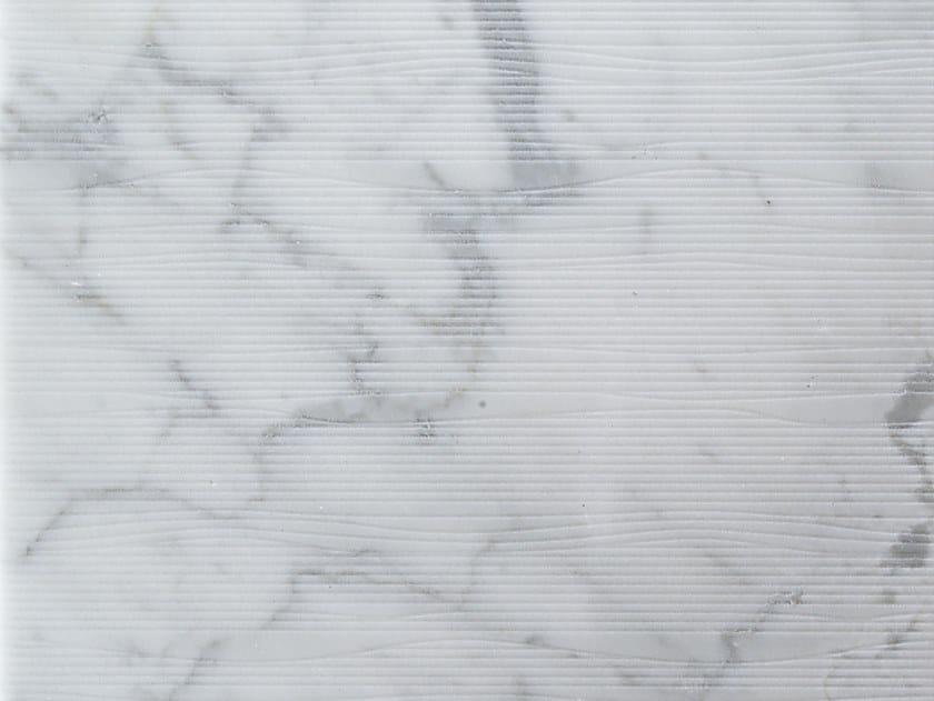 Marble wall/floor tiles GROOVE CARRARA by TWS