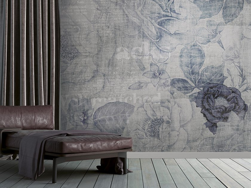 Washable panoramic glass-fibre wallpaper GRUNGE DENIM by N.O.W. Edizioni