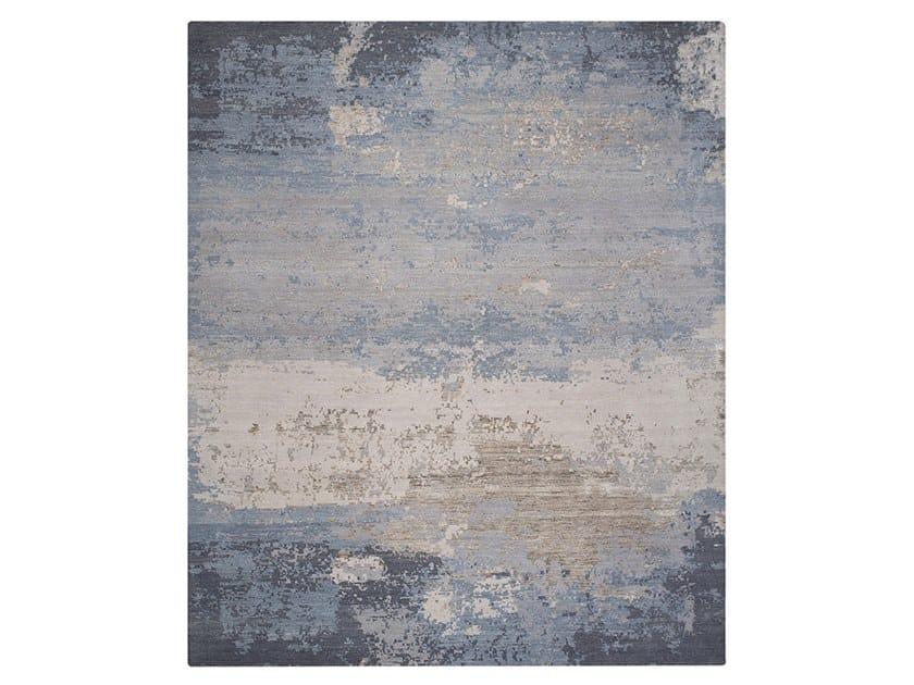 Handmade custom rug GRUNGE ICE BLUE by Thibault Van Renne