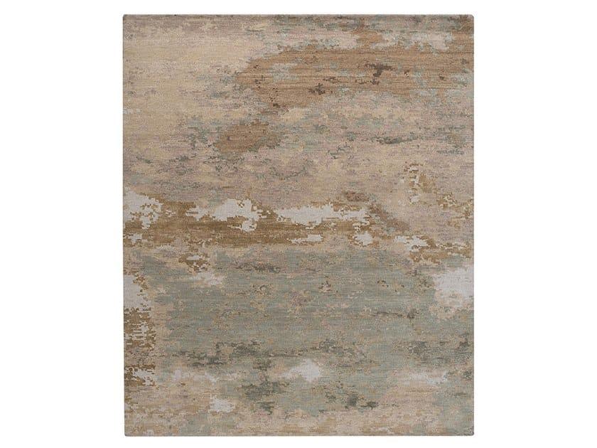 Handmade custom rug GRUNGE SPANISH WHITE by Thibault Van Renne