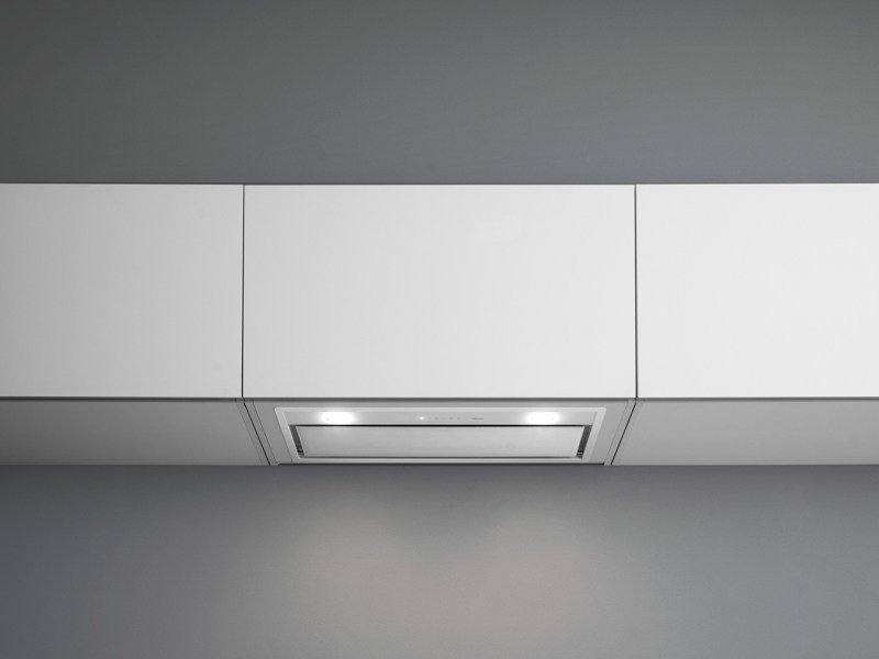 Wall-mounted glass and steel cooker hood with integrated lighting GRUPPO INCASSO MURANO by Falmec