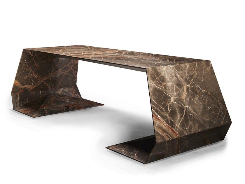 Marble executive desk GT | Marble office desk by Tonino Lamborghini Casa