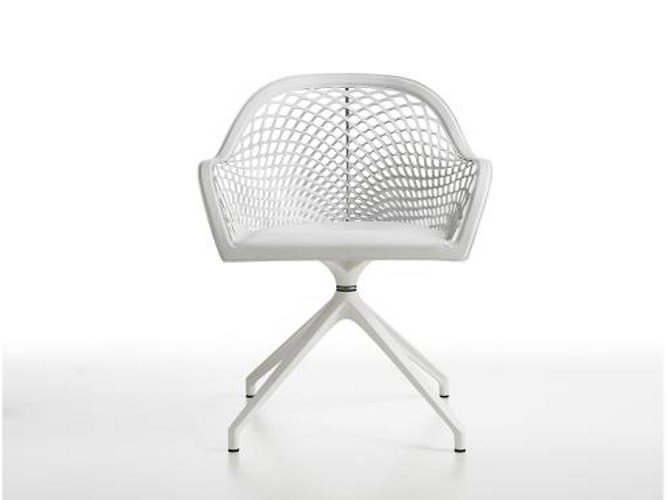 Trestle-based easy chair GUAPA PX by Midj