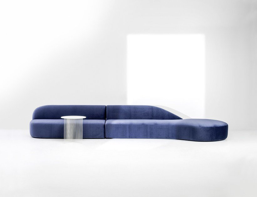 Sectional upholstered sofa GUEST | Sectional sofa by La Cividina