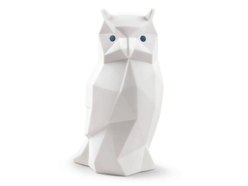 Porcelain decorative object OWL MATTE WHITE by Lladró