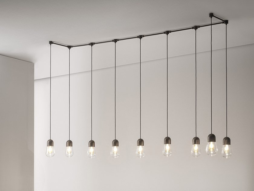 Brass pendant lamp GUINGUETTE - SPR SYSTEM by Aldo Bernardi