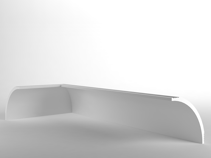 Wall-mounted Linear lighting profile for LED modules Linear lighting profile by NEW COMING