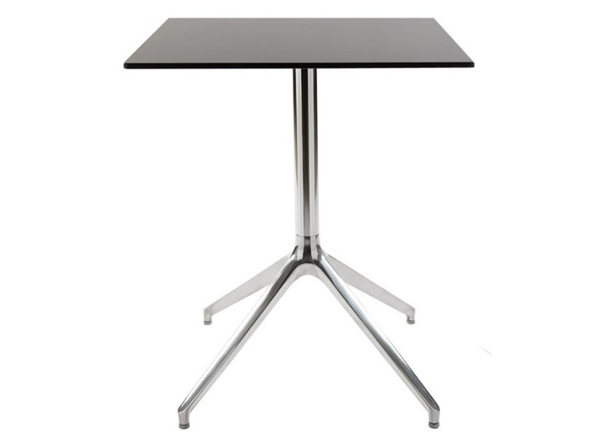 Square aluminium garden table with 4-star base GUSTAVE 80 by MOBIKA GARDEN