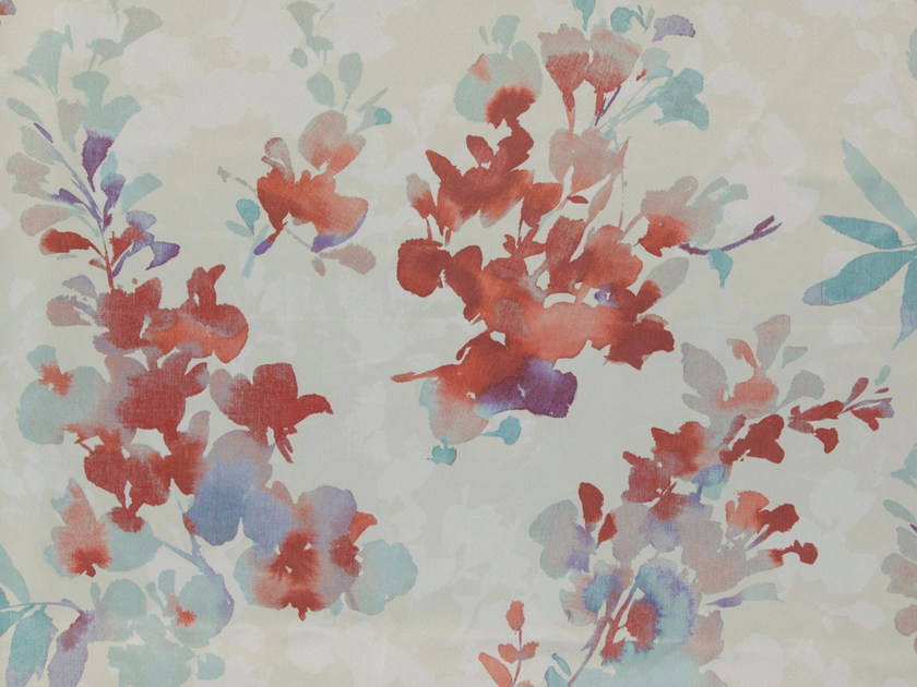 Printed polyester fabric with floral pattern GWENDOLINE by FR-One