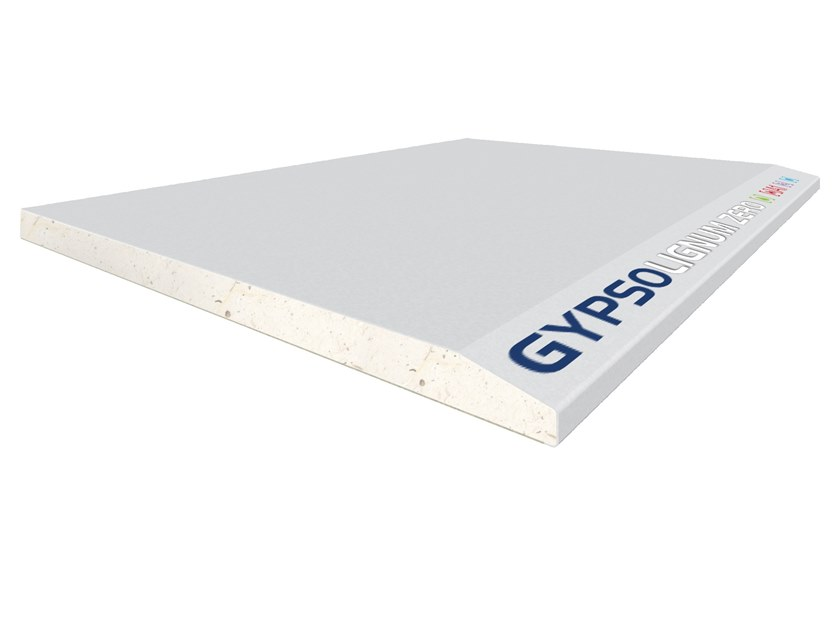 Fireproof gypsum plasterboard for partition walls for suspended ceiling GYPSOTECH® GypsoLIGNUM ZERO TIPO DEFH1I by FASSA