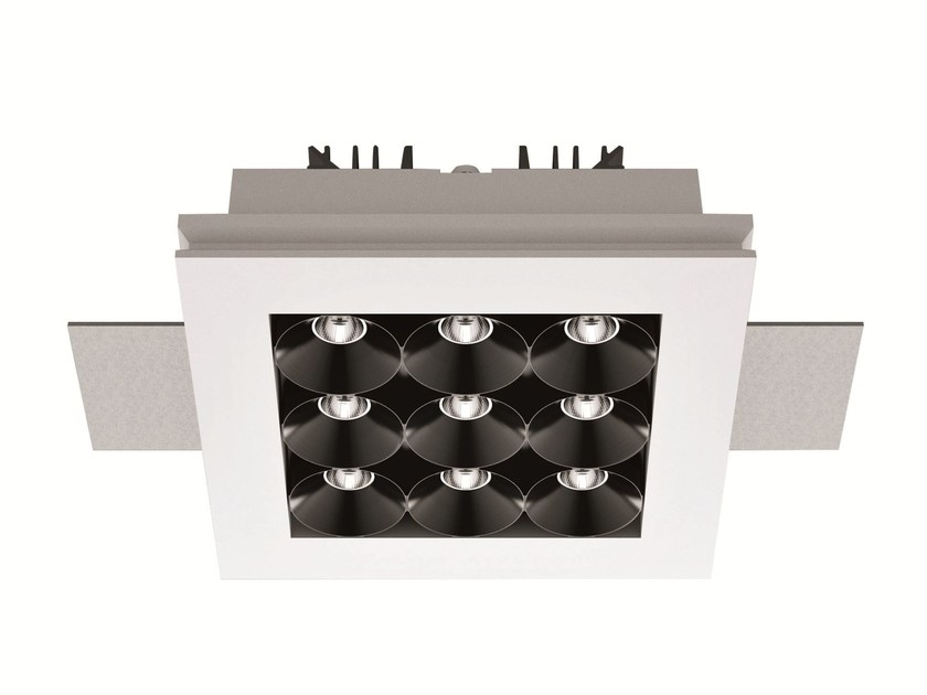 LED recessed multiple spotlight GYPSUM_CELL 3 by Linea Light Group