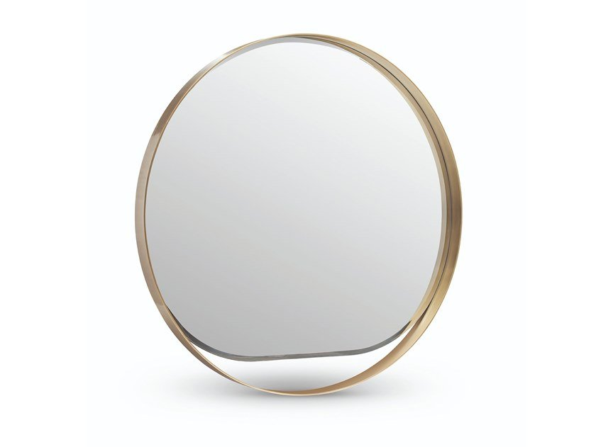 Round wall-mounted framed mirror GYSELLE | Round mirror by OPERA CONTEMPORARY