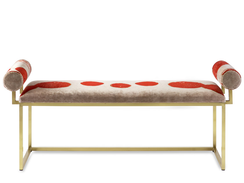 Upholstered fabric bench H   Bench by Secondome Edizioni